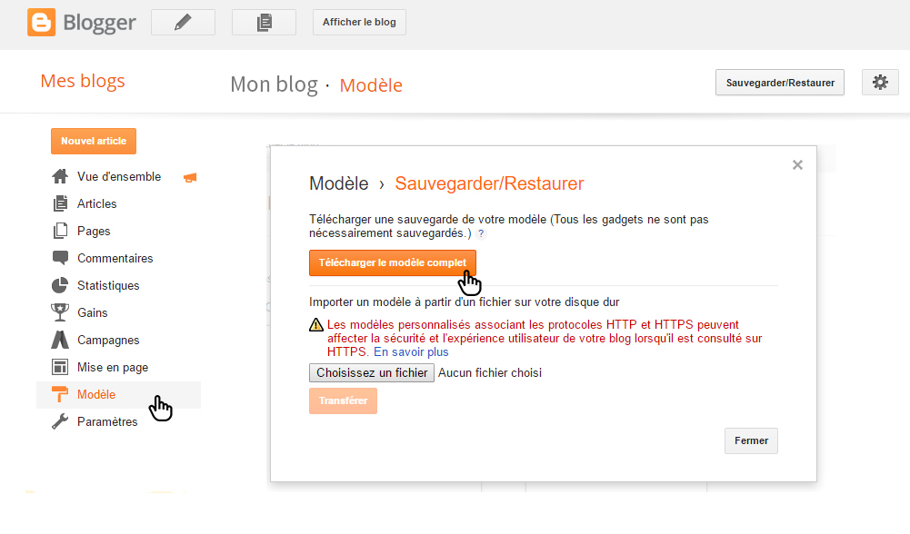 comment-sauvegarder-blog-blogger-theme