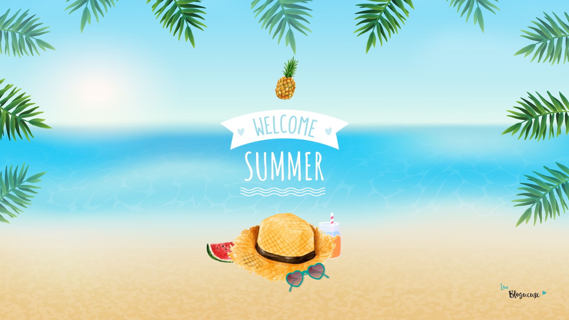 Welcome summer fond d cran 6 tre blogueuse for Image fond ecran ordinateur